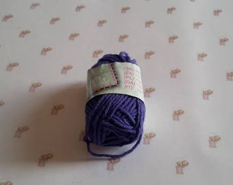 Mini skein cotton purple crochet amigurumi canvas