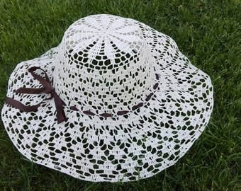 Crochet sun hat, must have summer item, handmade