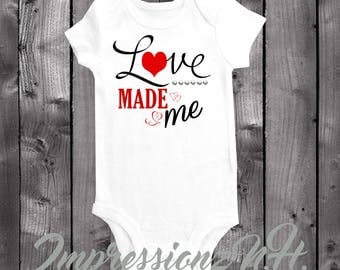 Love mad me - Cute baby onesie, cute baby bodysuit