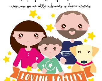Family portrait-Personalized Squares