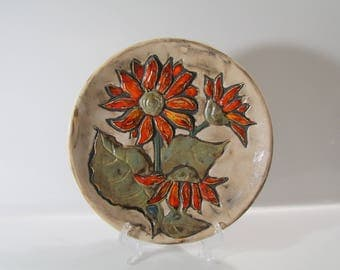 Gorgeous wall plate by Ruscha -- West German Pottery - Fat Lava - WGP