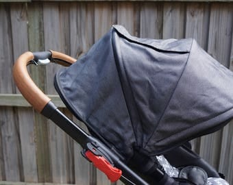 Baby Jogger City Select & City Premier Leather zip on handlebar covers.