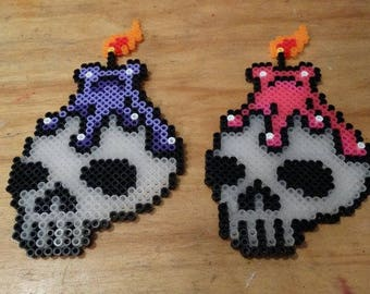 Witchy Skull Perler Bead