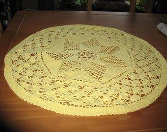 DOILY round yellow diameter 57 cm