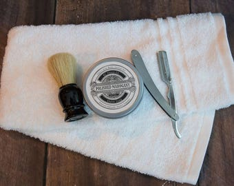 The Elijah Straight Razor Kit. Valentine's Gift for him. For husband. Boyfriend Gift. Unique And Personalized Gift For Him.