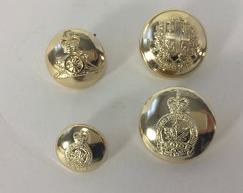 Royal Canadian Legion Dress Buttons for Blazer 3 sizes Different Scully Montreal