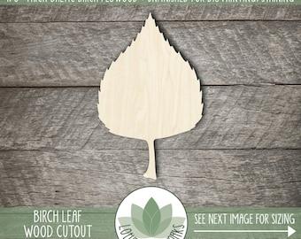 Wood Birch Leaf Laser Cut Shape, Wooden Leaf, Fall Home Decor, Wedding Favor, DIY Craft Suppy, Many Sizes And Shape Options, Tree Leaf