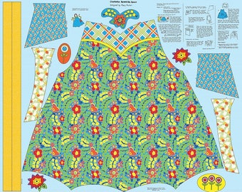 "Mary Mulari  for Penny Rose Fabrics  ""Chatterbox- Aprons""  Blue Apron Panel"