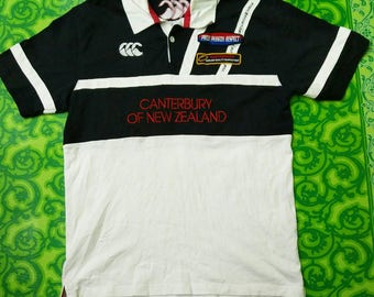 Canterbury of New Zealand polo shirt spell out embroidery /  Canterbury polo shirt