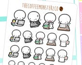 college emotis - emoti planner stickers E167 perfect for students in school