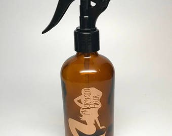 8oz Mermaid Hair Amber Bottle