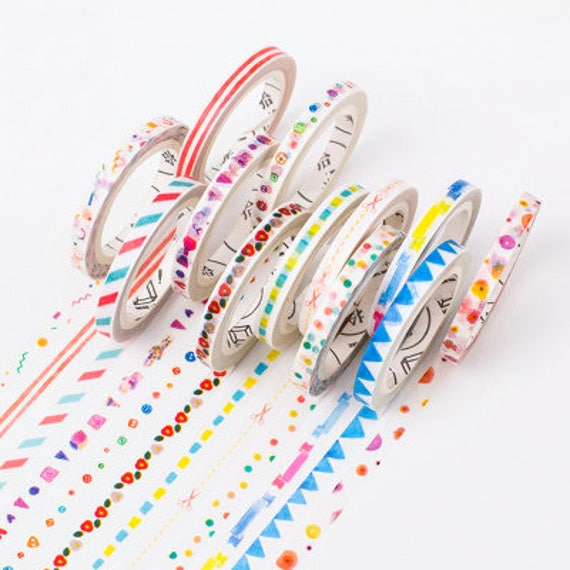 Kawaii skinny washi tape