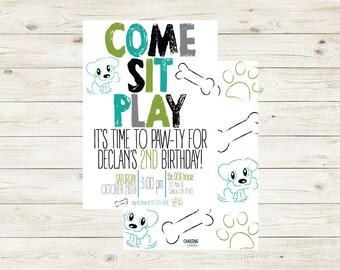 PAW-TY | Puppy Birthday Paw-ty Invitation | Dog Themed Birthday Invitation | Dog | Puppy Invite | Puppy Party | Puppy Party Theme Invite