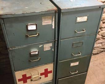 British vintage Industrial filing cabinet