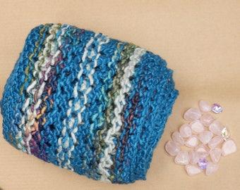 Merino wool and silk scarf: fair trade luxury soft lightweight warm scarf, blue teal gold purple scarf, eco friendly scarf