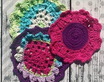 Dishcloth Set, Washcloth Set, Crochet Dishcloths, Crochet Washcloths, Large Dishcloths