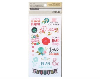 Floral Rub-On Stickers By Recollections™