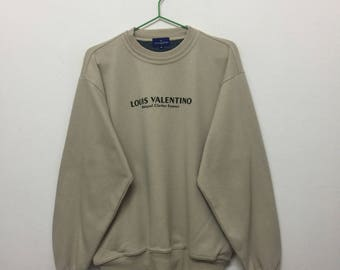 Louis Valentino Sweatshirt/Louis Valentino Homme Pullover Sweatshirt/Cream/Size M