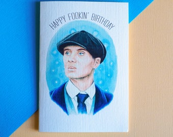 Tommy Shelby Peaky Blinders Card (Birthday, Anniversary, Custom) (2 Colour Options)