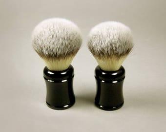 Acrylic Handle Synthetic Fiber Shaving Brush, Vegan Shaving Brush, Vegan Bristles, Wet Shave Brush, Vegan Wet Shave Brush, shaving gift