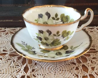 Royal Adderley fine bone china teacup Ridgway potteries Ltd floral pattern