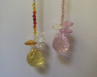 CLEARANCE-small sparkling sun catchers
