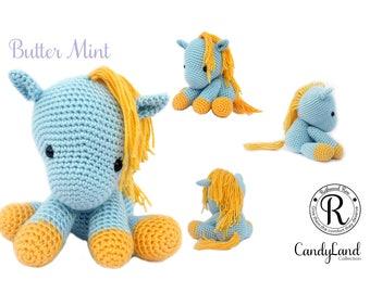 Blue Horse Unicorn Pegasus Pegacorn plush toy