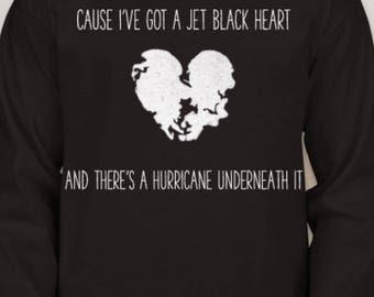 5SOS 'Jet Black Heart' Lyrics Shirt