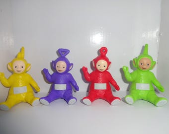 Mister A Gift Teletubbies set of 4 sitting plastic Cake Toppers