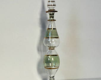 SALE, Perfume Bottle, High quality Blown Glass, Egyptian Perfume Bottles, Glass Art, Antique Glass, Glass Perfume Bottle