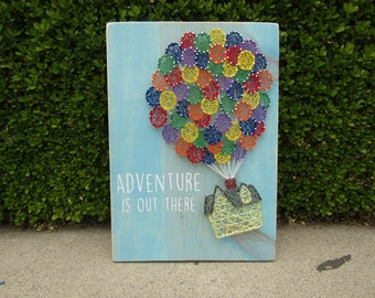 Adventure is out there UP house String Art *Made-to-Order*