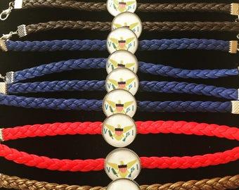 VI Braided Bracelets