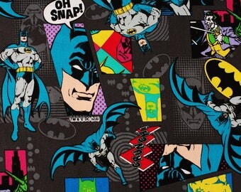 Batman Dark Night, Joker Fabric made in Japan DC Comics Fabric by the Fat Quarter
