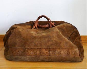 Large slouchy bag leather haldall bag suede weekender duffel bag mens weekender bag large duffle bag monogram weekend bag Salvador Bachiller