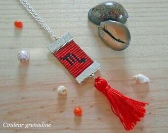 Woven collar Zodiac Scorpio astrological, gift idea mother grandmother, Easter