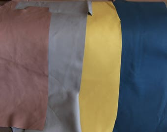 set no. 2: four pieces of beautiful quality lamb leather