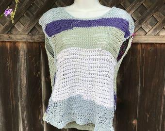 Surprise back piece crochet top!