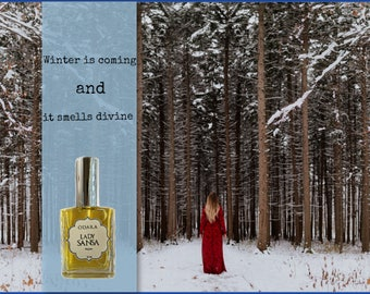 Lady Sansa Perfume, Game of Thrones, Stark, Daughter of Winterfell, Organic Perfume 30ml NEW FORMULATION