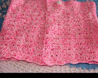 Pink and white skirt 2/3 years crochet handmade