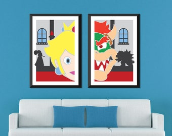 Super Mario Minimalist: Princess Peach & Bowser Set
