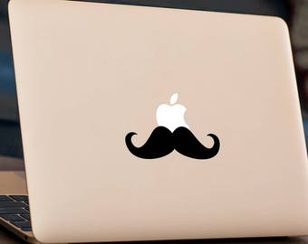 """MOUSTACHE MacBook Decal Sticker fits 11"""" 13"""" 15"""" and 17"""" models"""