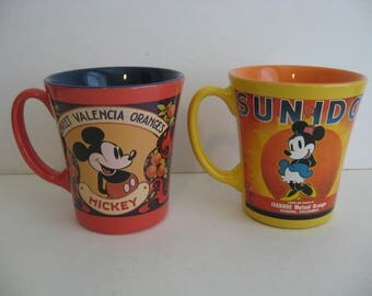 Vintage Mickey Mouse and  Minnie Mouse Double sided -  Coffee Mugs