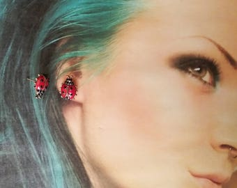 earrings Red Ladybird