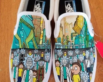Rick and Morty handpainted shoes