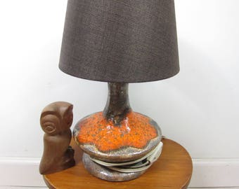 Retro table lamp ceramic 70s fat lava