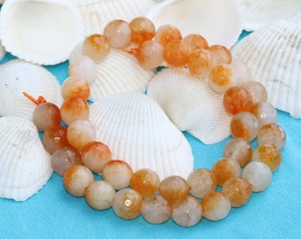 8mm Orange Quartz bead,Green  beads, Gemstone, Natural Bead,  jasper,8mm Quartz Bead,Full Strand (40 Pieces),SKU/MRY30