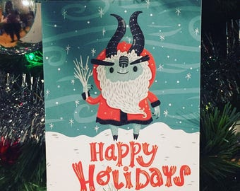 Krampus Christmas Card for the Holidays | Christmas Card | Holiday Card
