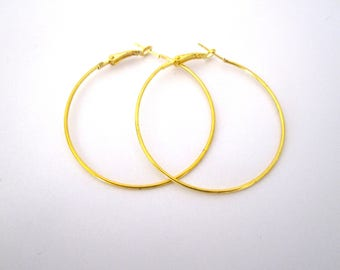 1 pair of Creole gold diameter 5cm