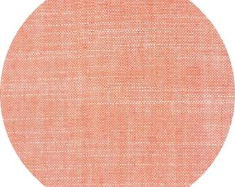 Birch Organic Fabrics: Chambray in Coral