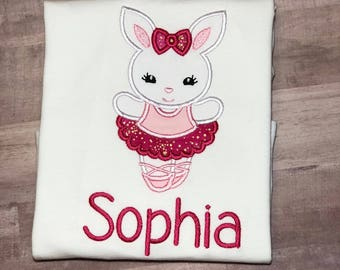 Easter Shirt For Girls, Easter Bunny Shirt, Girl Bunny Easter shirt, Personalized Easter Shirt, Embroidered Easter Shirt, Bunny Shirt,